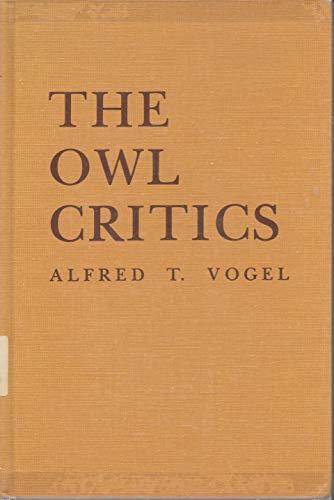 The Owl Critics: Vogel, Alfred T.