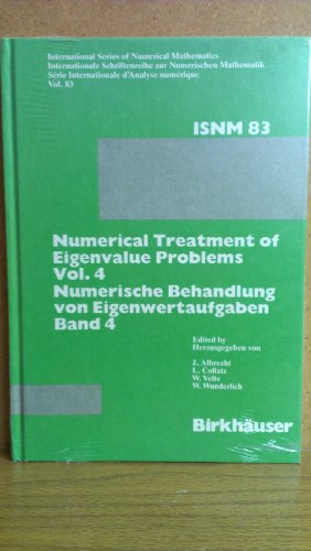 9780817618568: Numerical Treatment of Eigenvalue Problems Vol. 4 (International Series of Numerical Mathematics)
