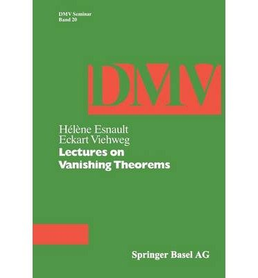 9780817628222: Lectures on Vanishing Theorems (D M V SEMINAR)