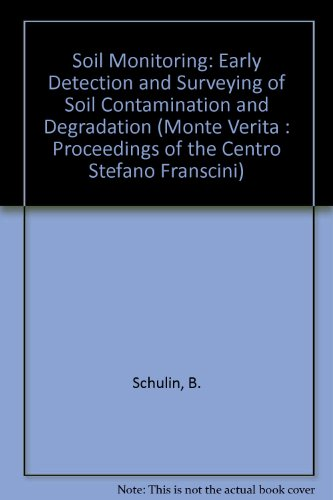 Soil Monitoring: Early Detection and Surveying of Soil Contamination and Degradation (Monte Verita ...
