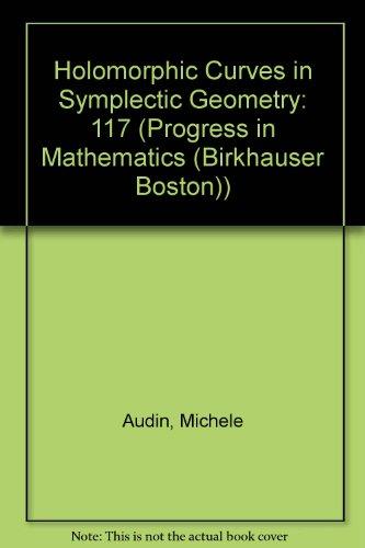 9780817629977: Holomorphic Curves in Symplectic Geometry (Progress in Mathematics (Birkhauser Boston))