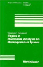 9780817630515: Topics in Harmonic Analysis on Homogeneous Spaces (Progress in Mathematics)