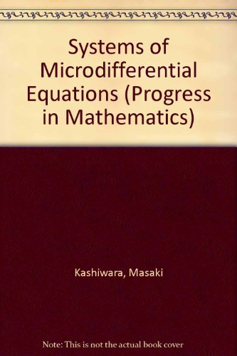 9780817631383: Systems of Microdifferential Equations (Progress in Mathematics)