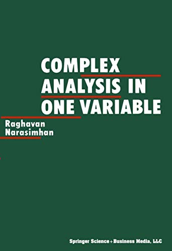 9780817632373: Complex Analysis in One Variable