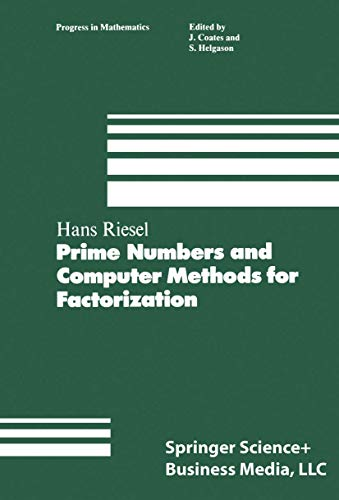 9780817632915: Prime Numbers and Computer Methods for Factorization (Progress in Mathematics (Birkhauser Boston))