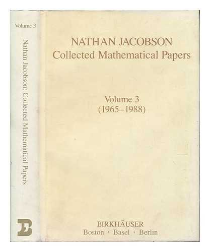 9780817634469: 003: Collected Works: Vol. 3: 1965-1988 (Contemporary Mathematicians)