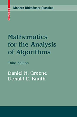 9780817635152: Mathematics for the Analysis of Algorithms (Progress in Computer Science and Applied Logic (PCS))