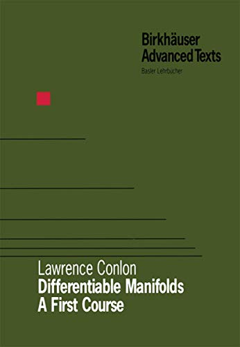 9780817636265: Differentiable Manifolds: A First Course (Birkhauser Advanced Texts / Basler Lehrbucher)