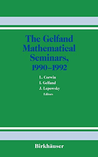 9780817636890: The Gelfand Mathematical Seminars, 1990–1992 (Gelfand Mathematical Seminar Series)