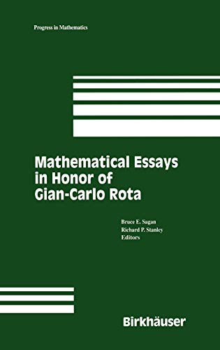 Festschrift in Honor of Gian-Carlo Rota: Sagan, B. E.; Stanley, Richard