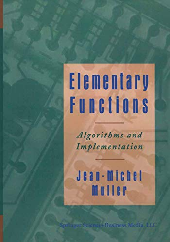 9780817639907: Elementary Functions:: Algorithms and Implementation
