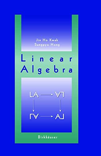 Linear Algebra: Jin Ho Kwak,