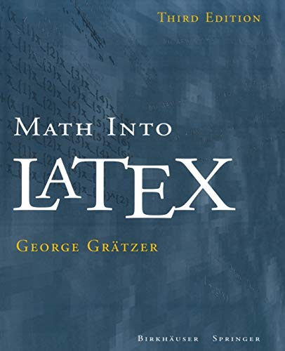 9780817641313: Math Into LaTeX