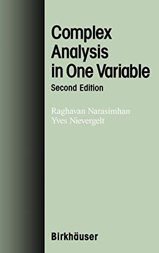 9780817641641: Complex Analysis in One Variable