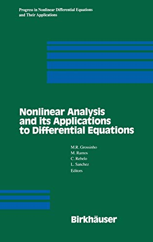 9780817641887: Nonlinear Analysis and its Applications to Differential Equations (Progress in Nonlinear Differential Equations and Their Applications)