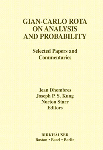 Gian-Carlo Rota on Analysis and Probability: Selected: Jean Dhombres