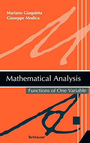 9780817643126: Mathematical Analysis: Functions of One Variable (v. 1)