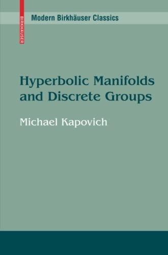 9780817649128: Hyperbolic Manifolds and Discrete Groups (Modern Birkhäuser Classics)