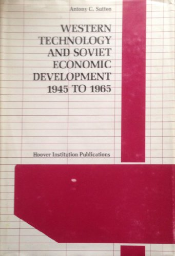 9780817911317: Western Technology and Soviet Economic Development, 1945 to 1965 (Hoover Institution Publications)