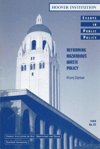 9780817959821: Reforming Hazardous Waste Policy (Essays in Public Policy)