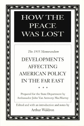 9780817991524: How the Peace Was Lost: The 1935 Memorandum