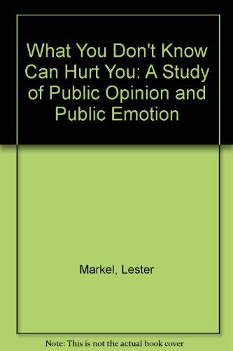 What you don't know can hurt you : a study of public opinion and public emotion: Markel, ...