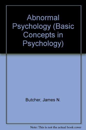 9780818500046: Abnormal Psychology (Basic Concepts in Psychology)