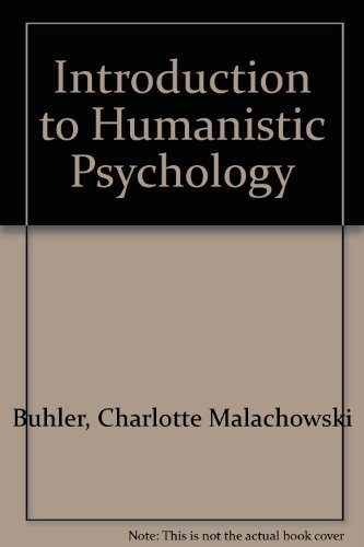 9780818500329: Introduction to Humanistic Psychology