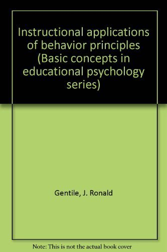 Instructional Applications of Behavior Principles