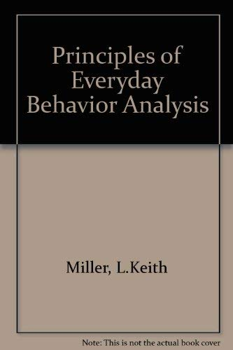 9780818501418: Principles of Everyday Behavior Analysis