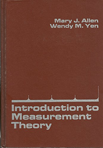 9780818502835: Introduction to Measurement Theory