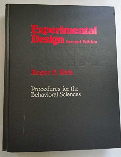 9780818502866: Experimental Design: Procedures for the Behavioral Sciences