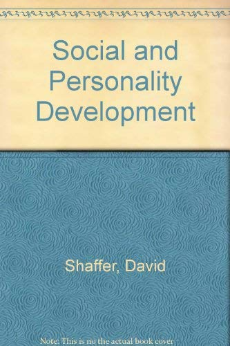 Social and Personality Development (0818502894) by Shaffer, David