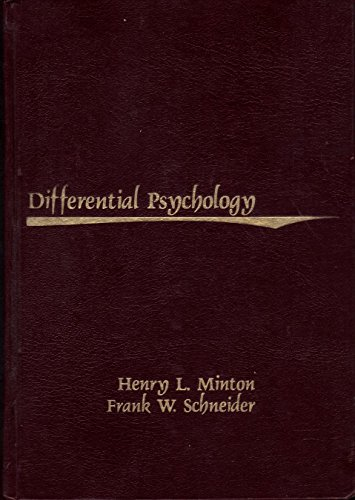 Differential Psychology: Minton, Henry L.; Schneider, Frank W.