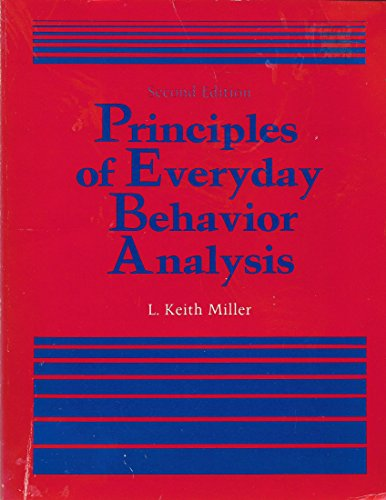 9780818503733: Principles of Everyday Behavior Analysis