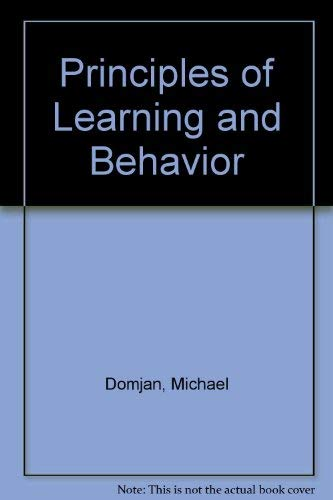 9780818504662: Principles of Learning and Behavior