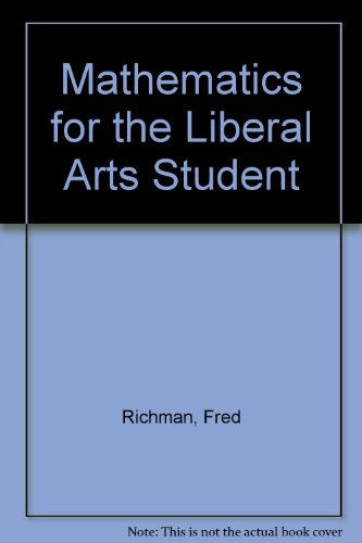9780818543005: Mathematics for the Liberal Arts Student