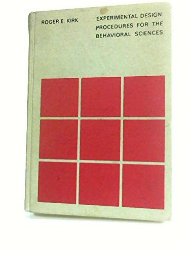 9780818589300: Experimental Design: Procedures for the Behavioral Sciences