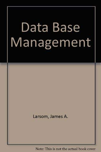 9780818607141: Database Management