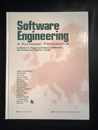 9780818691171: Software Engineering: A European Perspective (IEEE COMPUTER SOCIETY PRESS TUTORIAL)