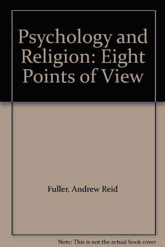 9780819101433: Psychology and Religion: Eight Points of View