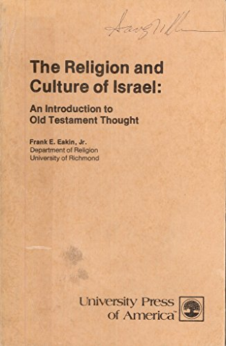 9780819102089: The Religion and Culture of Israel: An Introduction to Old Testament Thought