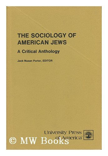 9780819105127: Sociology of American Jews