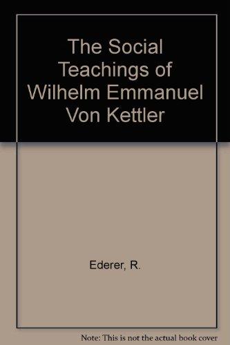 9780819118325: Social Teachings Wilhelm Emman