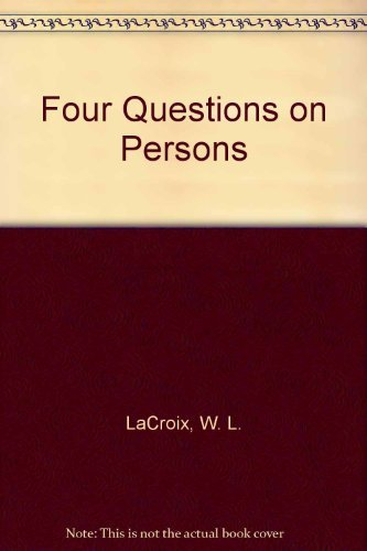 9780819120946: Four Questions on Persons