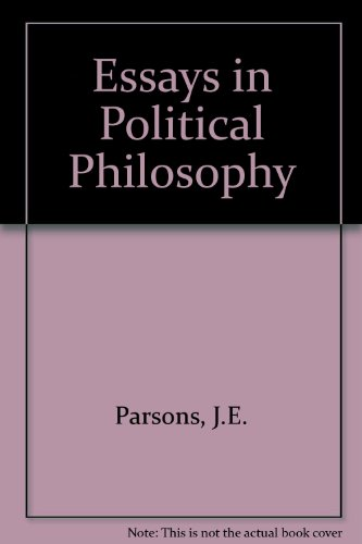 9780819121899: Essays in Political Philosophy