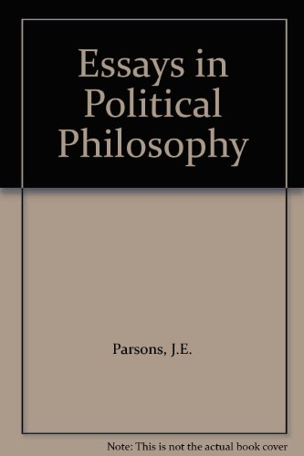 9780819121905: Essays in Political Philosophy