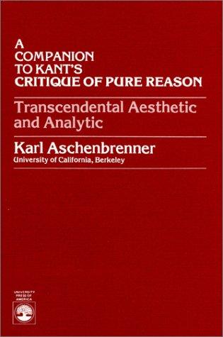 9780819132307: A Companion to Kant's