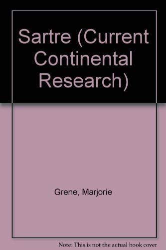 9780819133724: Sartre: Current Contintental Research (Current Continental Research Series)