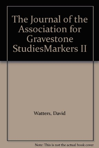 9780819134639: The Journal of the Association for Gravestone Studiesmarkers II